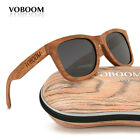 VOBOOM Men's Women's Bamboo Sunglasses Polarized Luxury Padauk Wood Eyewear