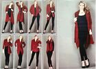 Avon 8 ways to wear cardigan in Ruby Red (burgundy) ~ Multiway Waterfall