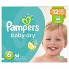 Pampers Baby Dry Diapers Size 2,  4,  6 CHEAP!!! NO TAX