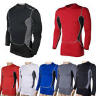 Men Compression Armour Base Layer Top Long Sleeve Thermal Gym Sport Shirt Tights