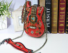 HOT Beaded Tassel Guitar Jeweled bag Shaped Designer Shoulder bag purse handbag
