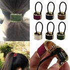 Women/Girl Flannel Cuff Elastic Bands Ponytail Holder Hair Tie Styling Wrap