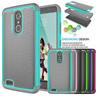 For ZTE MAX XL N9560 Phone Cover Armor Shockproof Rugged Impact Rubber Hard Case