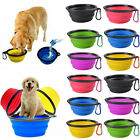 Pet Dog Cat Portable Silicone Collapsible Travel Bowl Food Water Dish Feeder