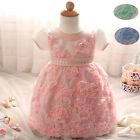 Flowers Newborn Baby Girl Baptism Gown Tutu First Birthday Dress Kids Clothing