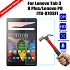 Tempered Glass Film Screen Protector For Lenovo Tab 3 8 Plus Lenovo P8 TB-8703F