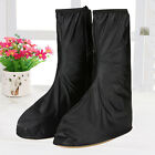1 Pair Male Female Frosted Tall PVC Waterproof Rain Shoes Non-slip Shoe Covers