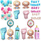 4 Pcs Foil Baby Shower Balloons Birthday Party Decorations Boy Girl Pink Blue