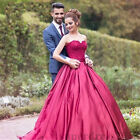 Modest Satin Quinceanera Dresses Sweetheart Lace Appliques Prom Party Ball Gowns