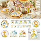 Happy Jungle Animals Safari Birthday Party Supplies Party Decorations Tableware