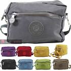 WOMEN'S NEW LIGHTWEIGHT PLAIN CANVAS NYLON CROSSBODY SHOULDER BAG
