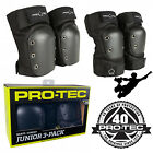 Pro Tec Street Gear Kids Roller Skates Protection Pad Set Knee & Elbow Guards