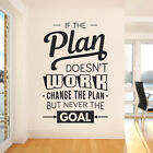 If the Plan doesn't work, Change the Plan, but Never the Goal - Company Office,