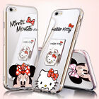 Mirror Cute Mickey Minnie Mouse Case Fr iPhone X 8 Plus 7 6 S9 Ring Holder Cover
