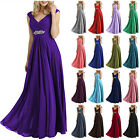 2017 Long Chiffon Evening Dress Bridesmaid Dresses Prom Party Cocktail Ball Gown