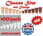 4 8 10 12 16 20 Paper Hot Tea Coffee Drink Soup Disposable Cups w/ LIDS-100/Pack