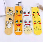 1Pair 3D Pokemon Pikachu Character Sock Pocket Monsters Women Kid Socks