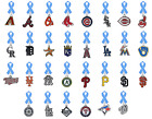 MLB Lapel Pin Light Blue Fathers Day Ribbon Prostate Cancer PICK YOUR TEAM