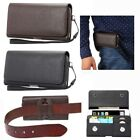 Vintage PU Leather Horizontal Loop Belt Holster Pouch Bag Case for Various Phone