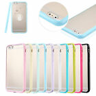 Fab Transparent Hard Back Soft Gel Bumper Case Cover For iPhone 4 5 6 S 7 Plus