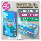FILTRI RIZLA ULTRA SLIM 5,7mm RUVIDI IN STICK - 20 SCATOLE PER BOX