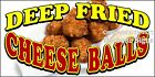 (Choose Your Size) Deep Fried Cheese Balls DECAL Food Truck Concession Sticker