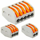 Fab 2/3/5Way Connector Wire Reusable Spring Lever Terminal Block Electric Cable