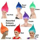 TROLL WIG Short Cosplay Party Costumes Fancy Dress Red Blue Pink Purple Green  image