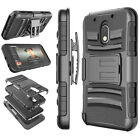 For Motorola Moto G4 Play Shockproof Armor Case Cover With Belt Clip Holster