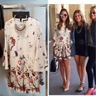 FREE GIFT + VTG QUEEN PLEAT FLORAL PRINT TUNIC WEDDING PARTY DRESS WITH POCKETS