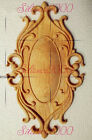 New Unpainted Wood Carved Ellipse Onlay Applique Furniture Home Decor.