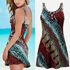 Womens Summer Floral Sleeveless Evening Party Beach Halter Short Mini Dress