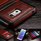 Slim Leather Wallet Card Holder Slot Back Case Cover For Samsung Galaxy S7 Edge