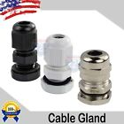 Внешний вид - PG7 - PG29 Black/White/Brass Tight Cord Grip Cable Gland w/Lock-Nut & Gasket LOT
