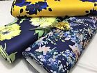 *NEW*Bodycon Scuba Stretch Jersey Floral-African 2 Dress/Craft Fabric*FREE P&P*