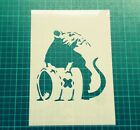 Banksy Toxic Rat Reusable STENCIL for home wall interior decor / Not a Decal