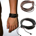 Popular Leather Wax Rope Knitting Leisure Men And Women's Leather Bracelet