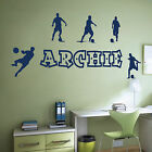 [WD101028] Personalised Name Boys Wall Art Sticker - Football, Soccer Theme