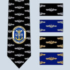 Master Chief Petty Officer CMPO E9 Submarine Necktie Tie SS SSN SSBN Dolphins