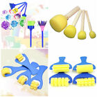 4× Sponge Art Painting Roller Brushes Kids Watercolor Paint Graffiti Drawing Toy