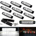 10x 6 LED Side Marker Indicator Light Car Truck Trailer Lorry Lamp  Waterproof