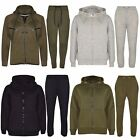 Boys Kids New Plain Khaki Tracksuit Hoodie Hood Jogging Bottoms 7 to 13 Years