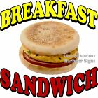 Breakfast Sandwich DECAL (Choose Your Size) Food Truck Concession Sign Sticker