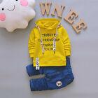 Infant Baby Boys Clothing Outfits Print Letter Fashion Hoodies Tops Cotton Pants