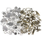 50pcs/lot Antique Silver Bronze Assorted Carved Charms Pendants Alloy Diy Beads