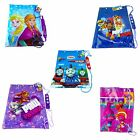 CHILDREN'S OFFICIAL LICENSED CHARACTER PVC WATERPROOF SWIMMING/GYM BAGS NEW