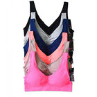 NWT Lot 6 Women Yoga Fitness Racerback Adjustable Tank Top Sports Bra Daily OS