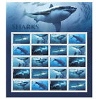 USPS New Sharks Full Pane of 20 <br/> Buy with confidence: Official Postal Store on eBay