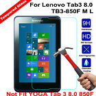 9H Tempered Glass Tablet Screen Protector Shield for Lenovo Tab3 8.0 TB3-850F M
