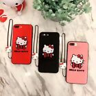 Luxury Cute 3D Case for iPhone 6 6S 7 Plus Embroidery Hello Kitty Pattern Cover